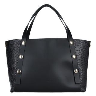 Dámská kožená kabelka Ripani Ilaria - černá