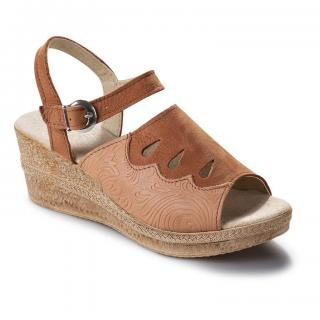 Dámské kožené pantofle na klínku vel. 36