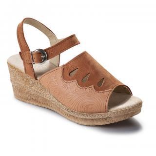 Dámské kožené pantofle na klínku vel. 38