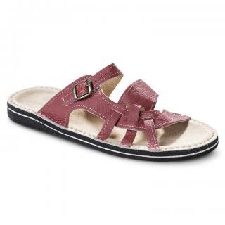 Dámské pantofle s koženou stélkou vel. 39