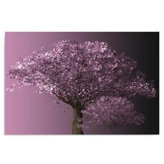 Deco Panel - Violet Tree 120x80 cm