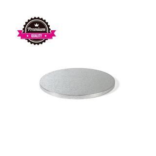 Decora Stříbrná podložka pod dort 25cm síla 1,2cm