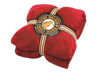 Deka KIWI WALKER Sweet Home Blanket Maxi červená 200x220cm