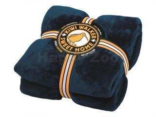 Deka KIWI WALKER Sweet Home Blanket Maxi modrá 200x220cm