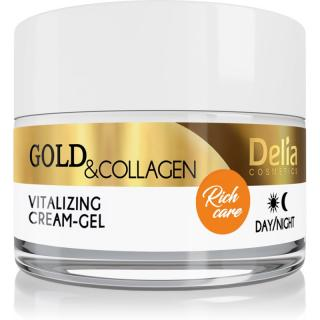 Delia Cosmetics Gold & Collagen Rich Care vitalizující pleťový krém 50 ml