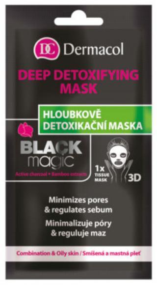 Dermacol Textilní detoxikační maska Black Magic 15ml
