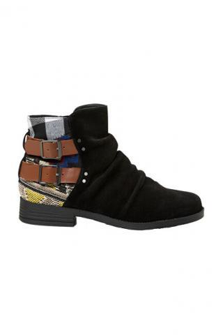 Desigual Dámské kotníkové boty Shoes Ottawa Patch Negro 19WSAL01 2000 40