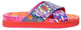 Desigual Dámské pantofle Shoes Nilo Multicolor Fucsia 20SSSP05 9021 39