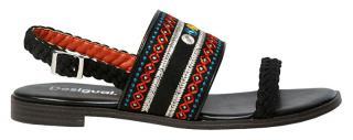 Desigual Dámské sandále Shoes Mumbai Negro 20SSSA03 2000 36