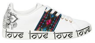 Desigual Dámské tenisky Shoes Cosmic Blanco 20SSKP26 1000 38