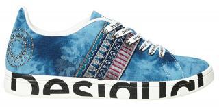 Desigual Dámské tenisky Shoes Cosmic Denim Dark Blue 20SSKD04 5008 40