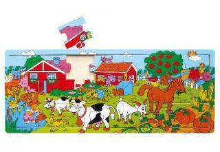 Deskové puzzle farma dřevěné 21 dílů