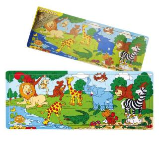 Deskové puzzle ZOO dřevěné 21 dílů