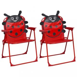 Dětské zahradní židle 2 ks Dekorhome Červená