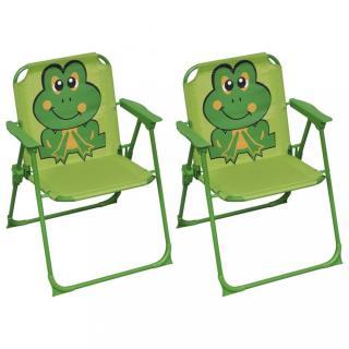 Dětské zahradní židle 2 ks Dekorhome Zelená