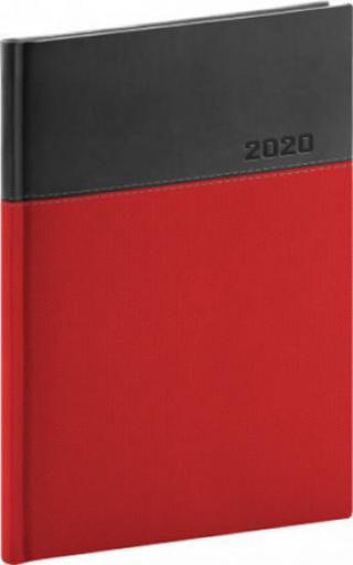 Diář 2020 - Dado - denní, červenočerný, 15 × 21 cm