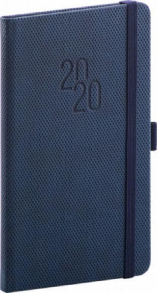 Diář 2020 -  Diamante - kapesní, modrý, 9 × 15,5 cm