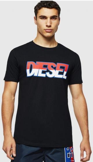 Diesel pánské tričko Parsen M černá - zánovní