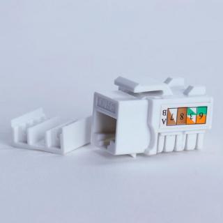 Digitalbox START.LAN Keystone Jack UTP cat. 5e  8P8C 90°, bílý, STLKJUC5E90WH