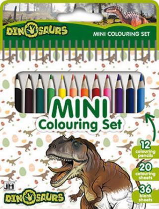 Dinosauři - Mini set s pastelkami