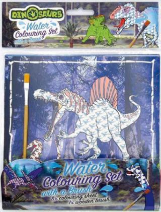 Dinosauři - Vodové omalovánky se štětcem