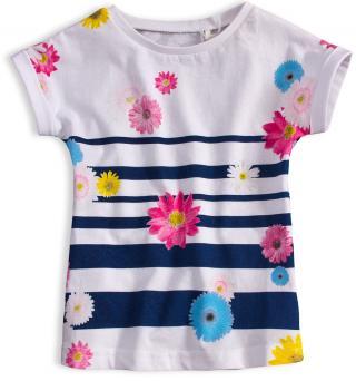 Dívčí tričko KNOT SO BAD FLOWERS bílé Velikost: 92