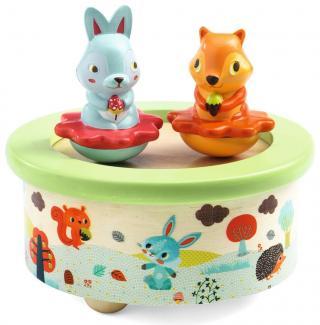 Djeco Hudební hračka Lesní přátelé - rozbaleno