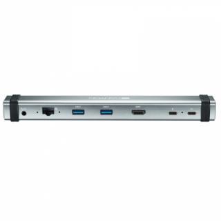 Dokovací stanice Canyon USB-C, HDMI, USB 3.0, RJ45, 3,5mm Jack šedá