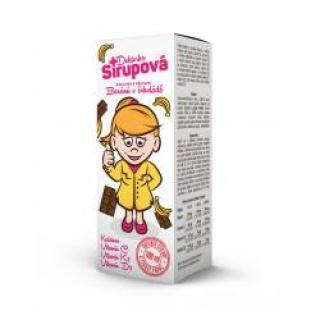 Doktorka Sirupová kalciová Banány v čokoládě 100 ml