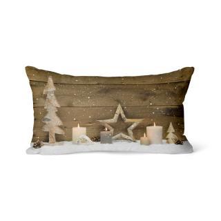 Domarex Vánoční svíticí polštářek s LED světýlky Adventní svícen, 30 x 50 cm