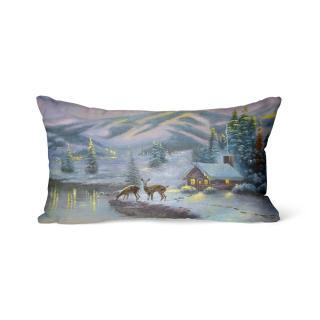 Domarex Vánoční svíticí polštářek s LED světýlky Srnky, 30 x 50 cm