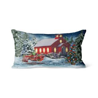 Domarex Vánoční svíticí polštářek s LED světýlky Štědrý den, 30 x 50 cm