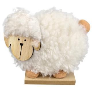 Dřevěná velikonoční ovečka Becky, 15 x 13 cm