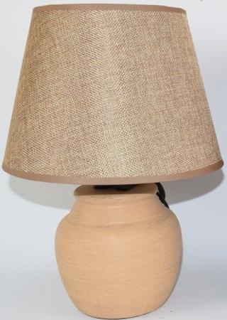 DUE ESSE Světle hnědá stolní lampa 30 cm, keramika - rozbaleno