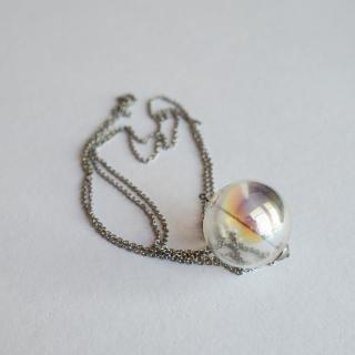 Duhový skleněný náhrdelník Ko-ra-le Neon long