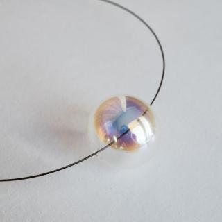 Duhový skleněný náhrdelník Ko-ra-le Neon midi