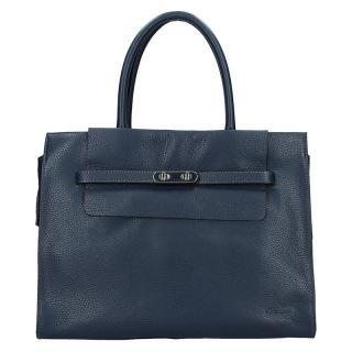 Elegantní dámská kožená kabelka Katana Aurora - modrá