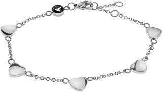 Emily Westwood Romantický ocelový náramek se srdíčky WB1020S