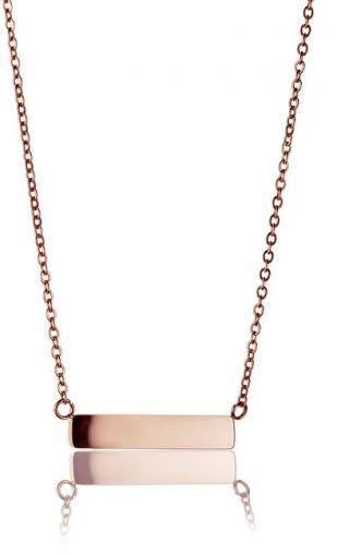 Emily Westwood Růžově pozlacený ocelový náhrdelník WN1012R
