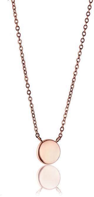 Emily Westwood Růžově pozlacený ocelový náhrdelník WN1013R