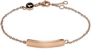Emily Westwood Růžově pozlacený ocelový náramek WB1017R