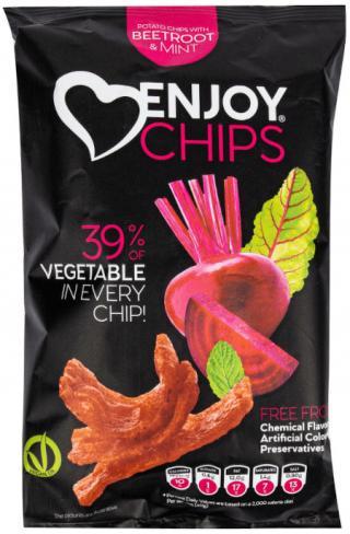 Enjoy Chips Červená řepa a máta 40g