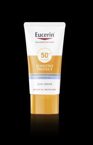 Eucerin SUN Sensitive Protect SPF50  vysoce ochranný krém na obličej 50 ml