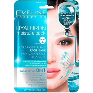 EVELINE Hyaluron Ultra hydratační pleťová textilní maska 20 ml