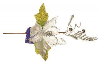 EverGreen Větev s poinsetií v. 35 cm B