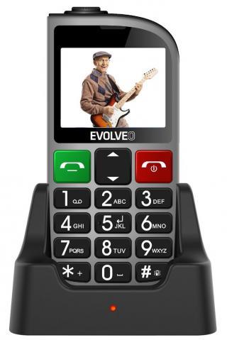 Evolveo EasyPhone FM, stříbrný - zánovní