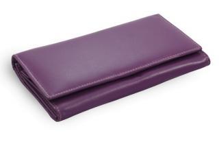 Fialová dámská kožená psaníčková peněženka Antonien