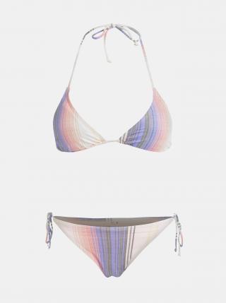 Fialovo-růžové dámské pruhované dvoudílné plavky Rip Curl