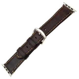 FIXED Berkeley pro Apple Watch 42 mm a 44 mm se stříbrnou sponou velikost L uhlově hnědý