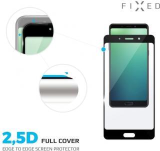 Fixed Full-cover ochranné tvrzené sklo pro Huawei P20 Lite, přes celý displej, černé, 0.33 mm FIXGF-278-BK - zánovní